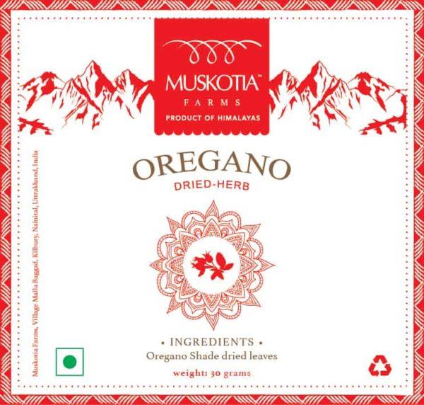 Muskotia Oregano Shade Dried Herb